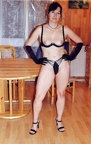 nude adult woman in heels