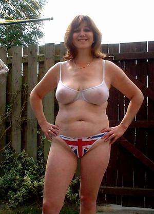 nude mature close to lingerie