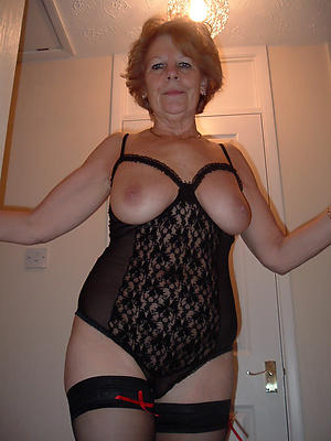 busty old women in lingerie