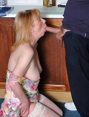 naughty older women giving blowjob