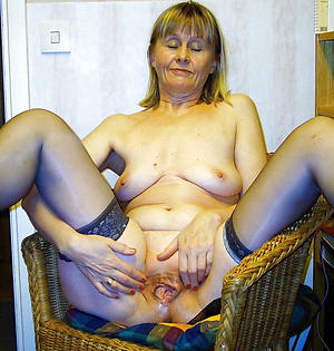 nice granny playing with pussy