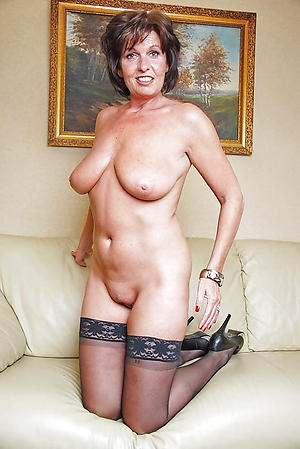 literal off colour granny in stockings