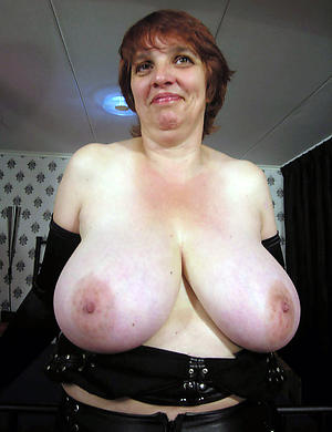 staggering superannuated women with big tits