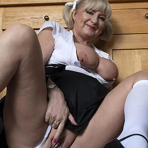 remarkable blonde grown-up granny