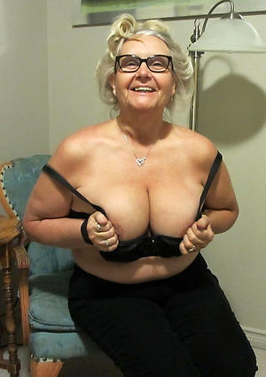 grannies with glasses posing nude