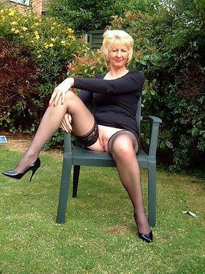 granny grown up outdoors Bohemian pics