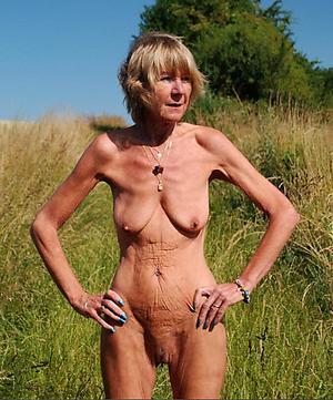 low-spirited skinny nude granny porn pic