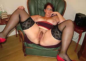 older hairy woman posing mere