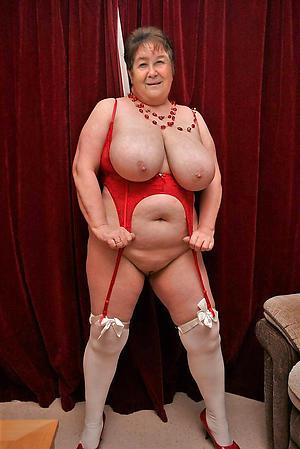 amazing hot busty granny quit d suit