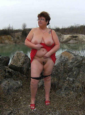 preposterous old women panties and pussy pics