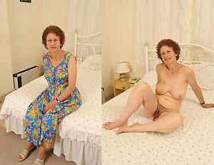 aged lady dressed and undressed private pics