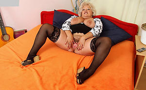 venerable granny in stockings porn pics