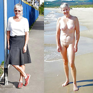 hot granny dressed undressed stripping