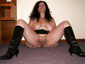 hot granny brunette  stripping